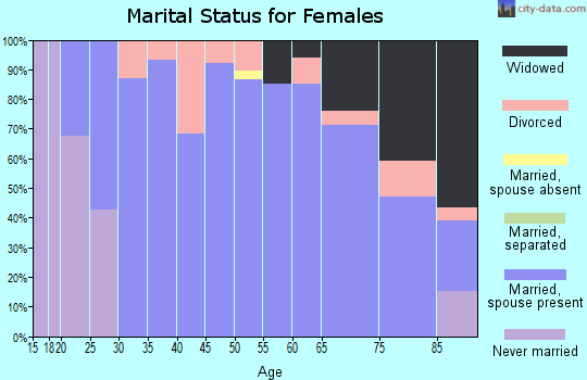 Zip code 58458 marital status for females