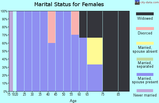 Zip code 59528 marital status for females