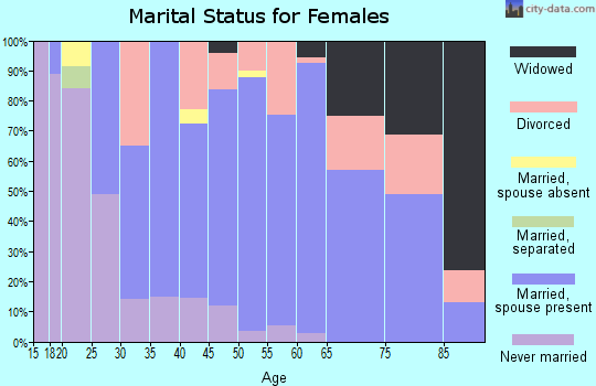 Zip code 60096 marital status for females