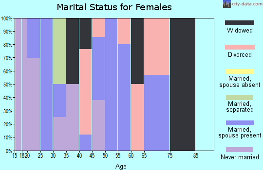 Zip code 60113 marital status for females
