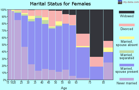 Zip code 60139 marital status for females
