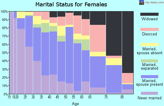 Zip code 60160 marital status for females