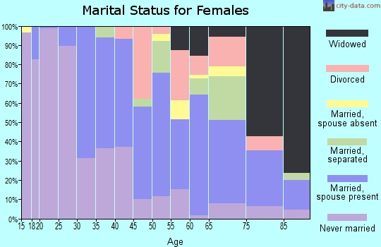 Zip code 60162 marital status for females
