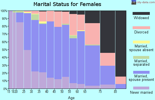 Zip code 60193 marital status for females