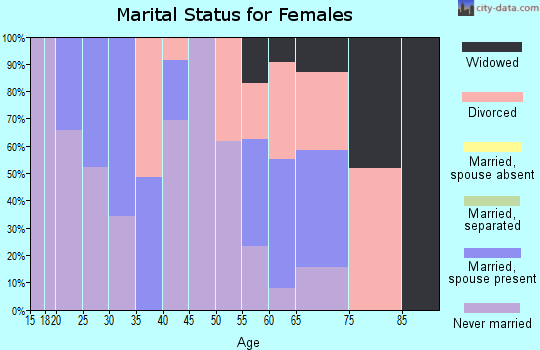 Zip code 60301 marital status for females