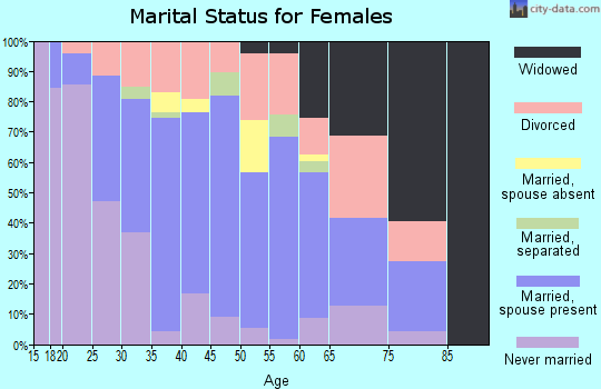 Zip code 60482 marital status for females