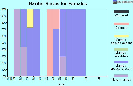 Zip code 60604 marital status for females