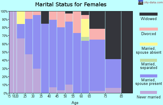 Zip code 60927 marital status for females