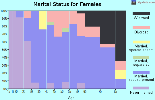 Zip code 61048 marital status for females