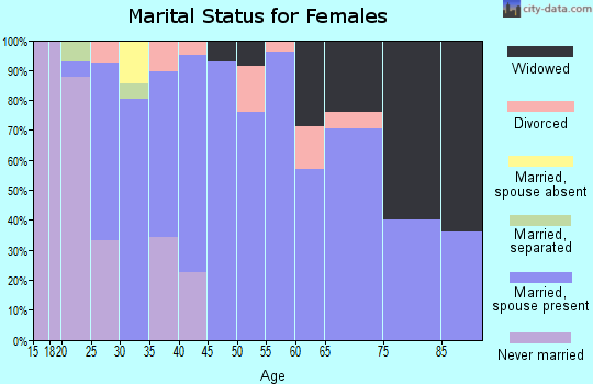 Zip code 61062 marital status for females