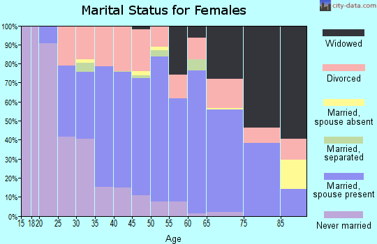 Zip code 61115 marital status for females