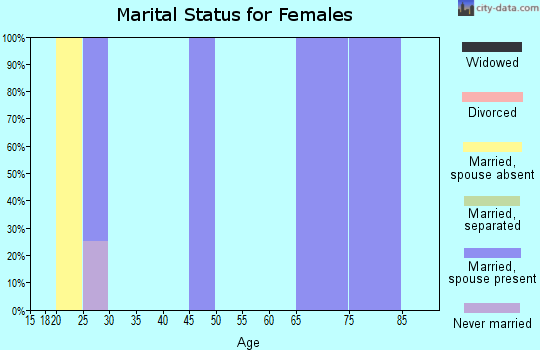 Zip code 61426 marital status for females