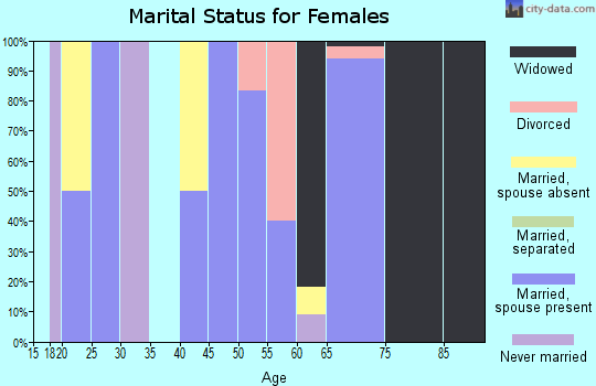 Zip code 61460 marital status for females