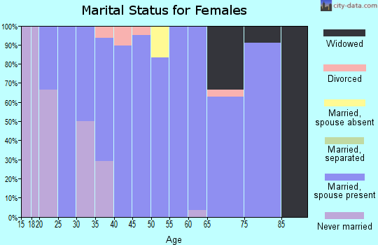 Zip code 61472 marital status for females