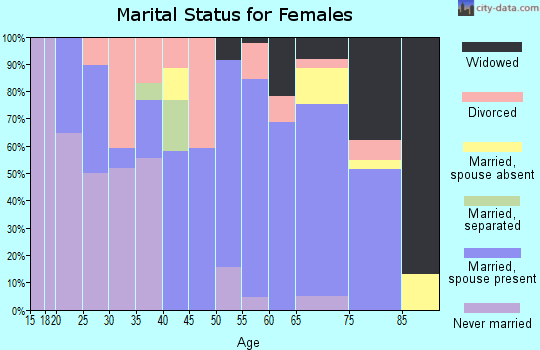 Zip code 61480 marital status for females