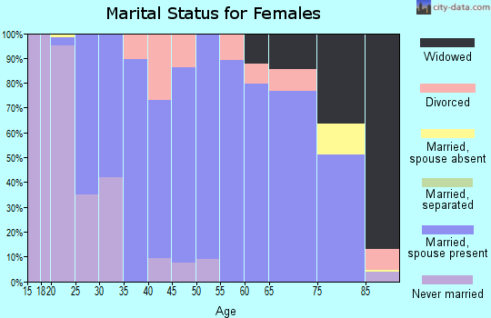 Zip code 61530 marital status for females