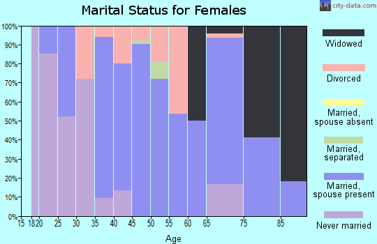 Zip code 62063 marital status for females