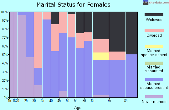 Zip code 62272 marital status for females