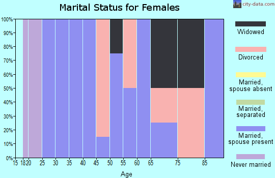 Zip code 62348 marital status for females