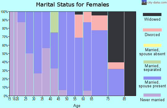 Zip code 62376 marital status for females
