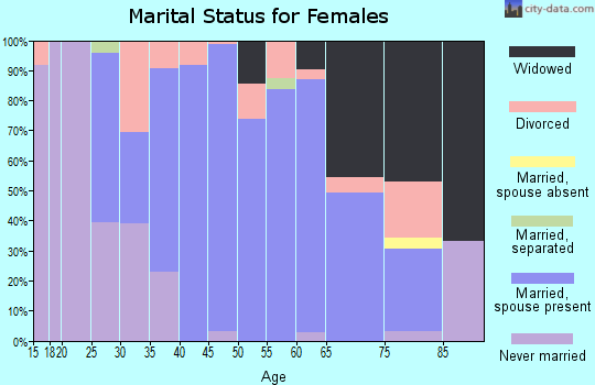 Zip code 62447 marital status for females