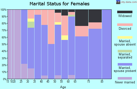 Zip code 62531 marital status for females