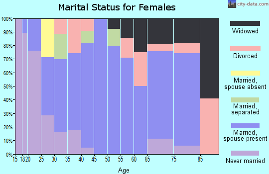 Zip code 62546 marital status for females
