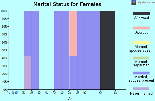 Zip code 62639 marital status for females