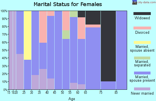 Zip code 62853 marital status for females