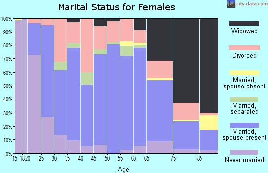 Zip code 62881 marital status for females