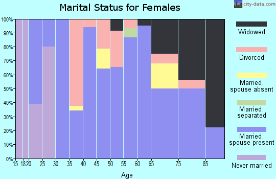 Zip code 62941 marital status for females