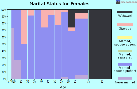 Zip code 62987 marital status for females