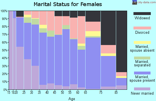 Zip code 63080 marital status for females