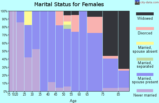 Zip code 63127 marital status for females