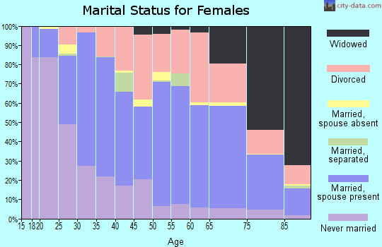 Zip code 63146 marital status for females