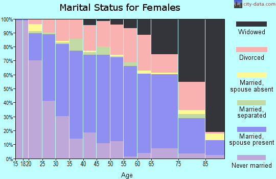 Zip code 63401 marital status for females