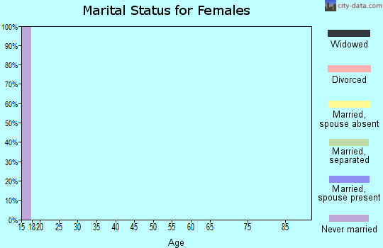 Zip code 63738 marital status for females