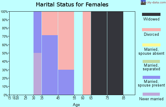 Zip code 63850 marital status for females