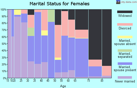 Zip code 63863 marital status for females