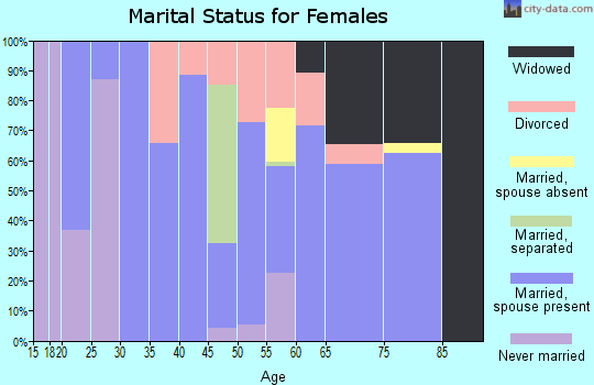 Zip code 63953 marital status for females