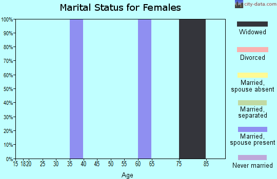 Zip code 64167 marital status for females