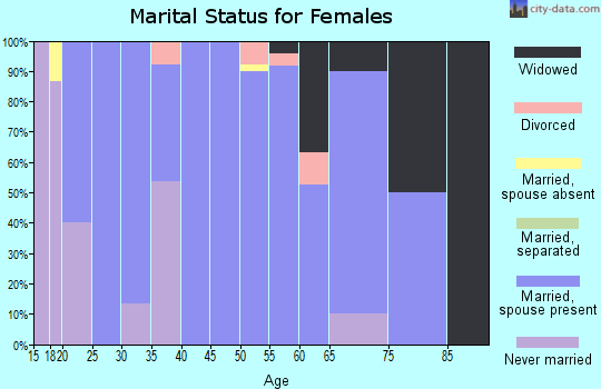 Zip code 64752 marital status for females