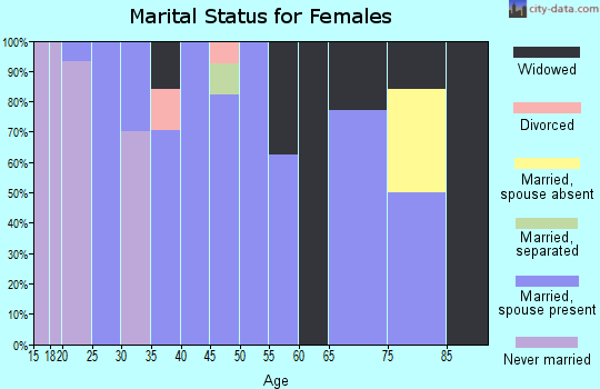 Zip code 65016 marital status for females