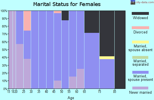 Zip code 65035 marital status for females