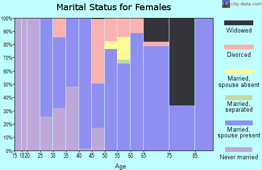 Zip code 65052 marital status for females