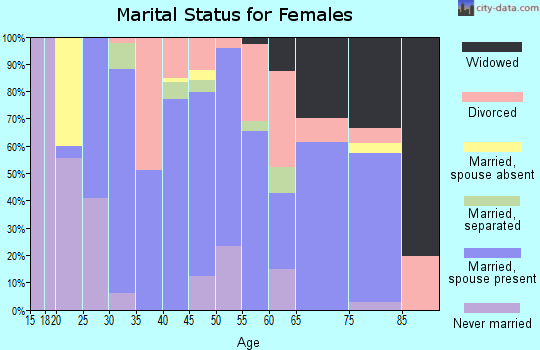 Zip code 65078 marital status for females
