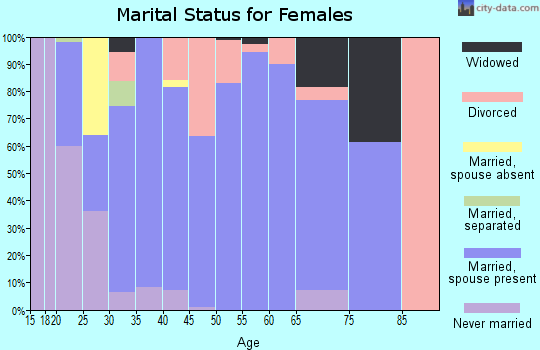 Zip code 65243 marital status for females