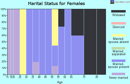 Zip code 65250 marital status for females