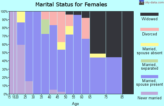 Zip code 65462 marital status for females