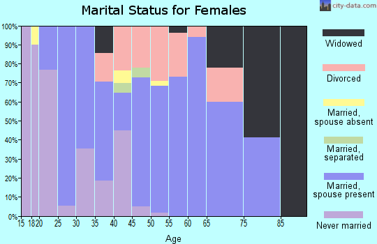 Zip code 65707 marital status for females